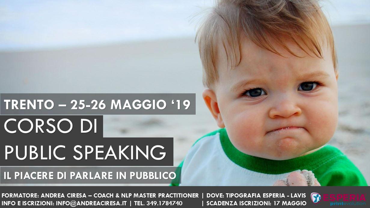 public speaking Trento
