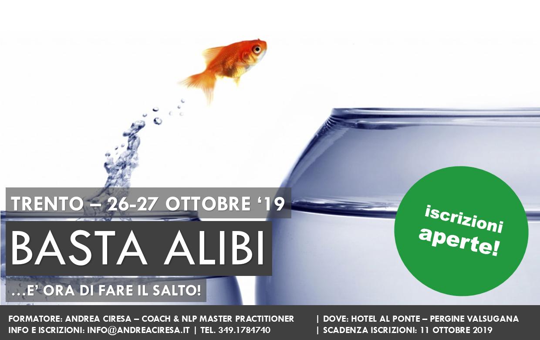 basta alibi - corso di coaching a Trento