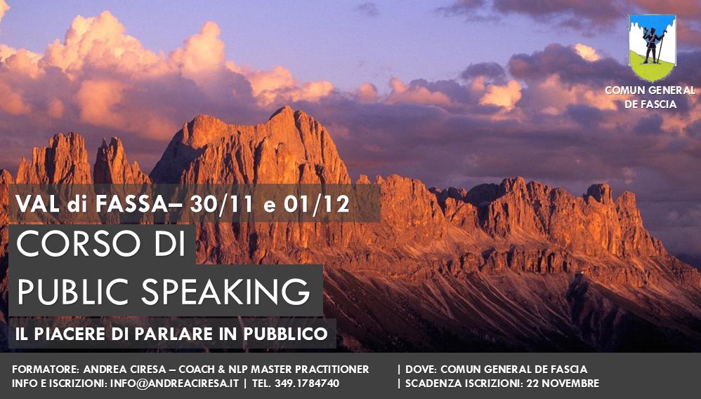public speaking Val di Fassa