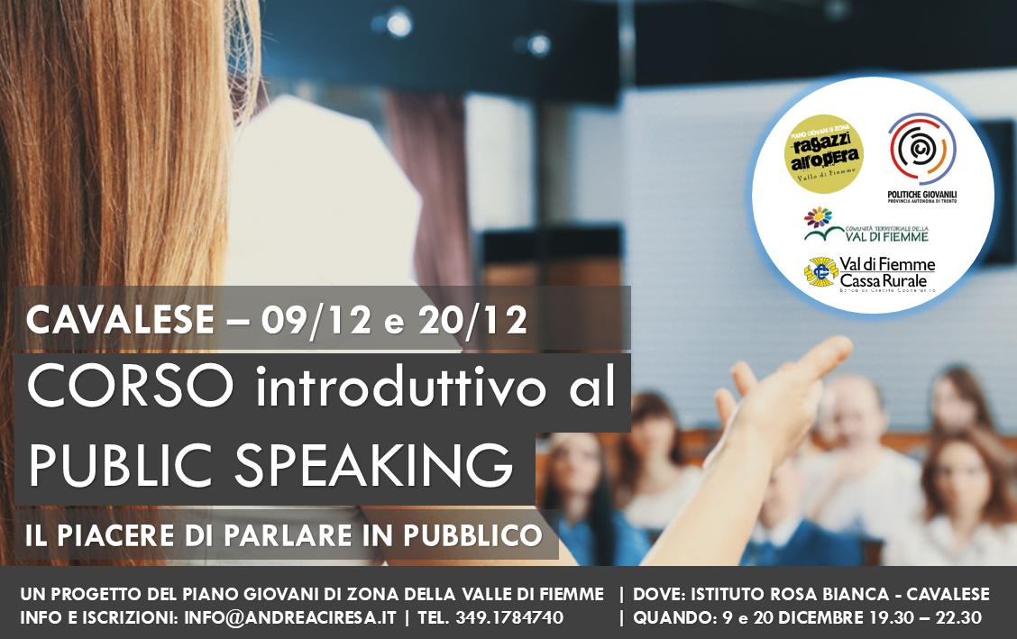 serate Public speaking cavalese